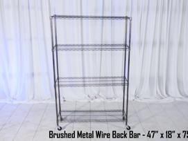 Brushed Metal Wire Back Bar