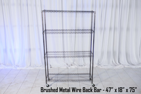 Burshed Metal Wire Back Bar