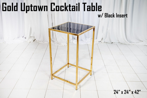 Gold Uptown Cocktail Table Black Insert