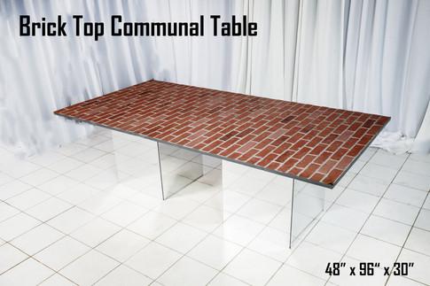 Brick Top Communal Table