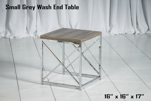 Small Grey Wash End Table