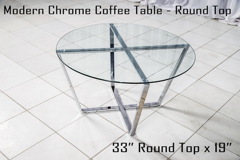 Modern Chrome Coffee Table Round