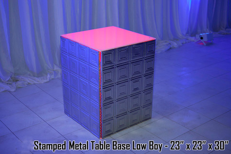 Stamped Metal Table Base Low Boy
