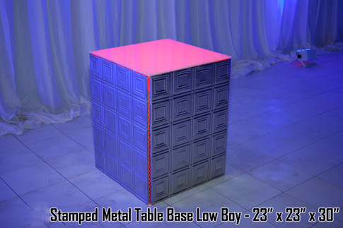 Stamped Metal Table Base Low Boy
