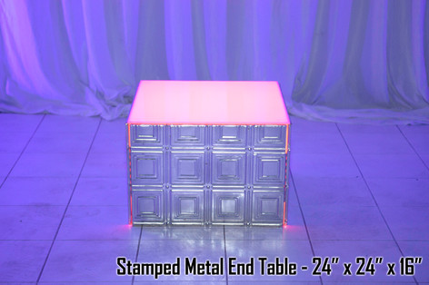 Stamped Metal End Table