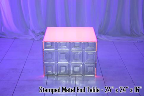 Stamped Metal End Table