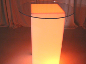 """32"""" Acrylic Table Top Round - Clear"""