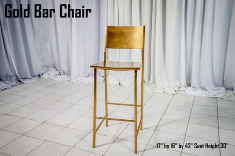 Gold Bar Chair