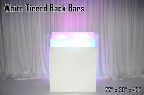 White Tiered Back Bar