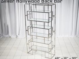 Silver Hollywood Back Bar