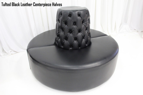 Tufted Black Leather Centerpiece Halves