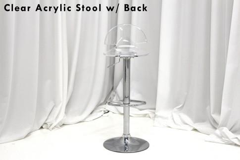 Clear Acrylic Bar Stools With Back