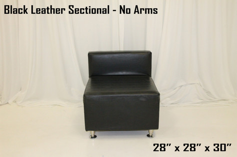 Black Leather Sectional -no arms