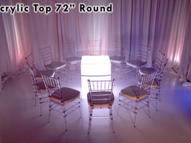"""72"""" Round Acrylic Top - Clear"""