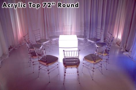 72 Round Acrylic Top