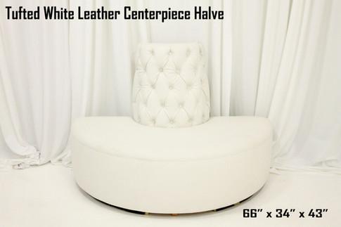 Tufted White Leather Centerpiece Halve