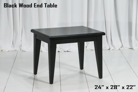 Black Wood End Table