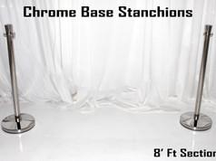 Chrome Base Stanchions