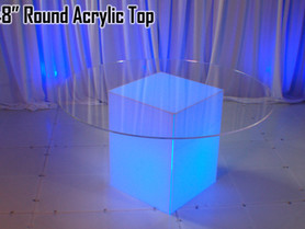 """48"""" Round Acrylic Top - Clear"""