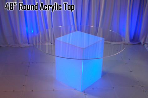 48 Round Acrylic Top