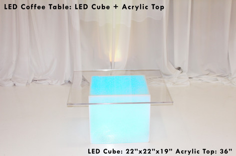 Low LED Cubed Table