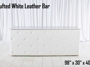 White Tufted Leather Bar