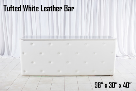 Tufted White Leather Bar