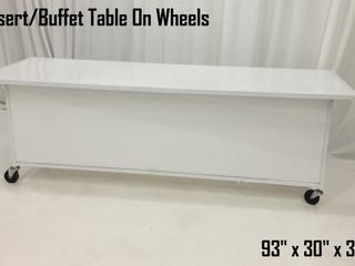 Dessert Buffet Table on Wheels