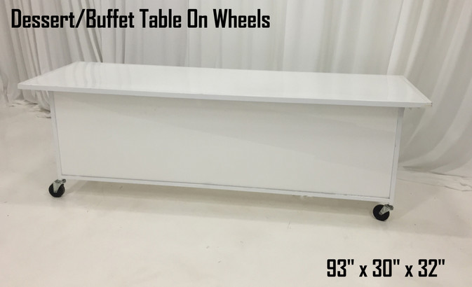 Dessert Buffet Table on Wheels