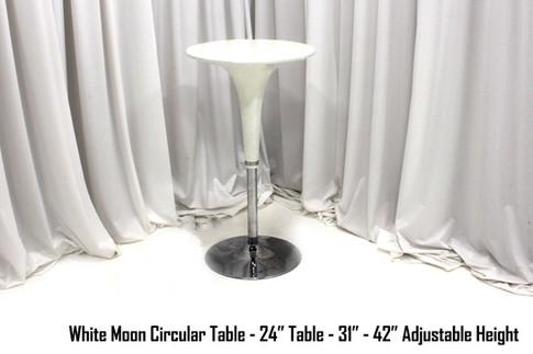 White Moon Circular Table