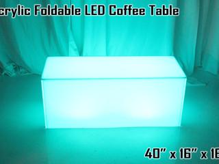 "Acrylic Foldable LED Coffee Table - 40"""