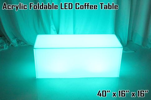 Acrylic Foldable LED Coffee Table