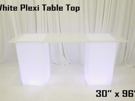 "30"" x 96"" Acrylic Table Top - White"