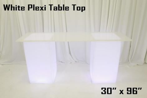 White Plexi Table Top