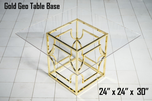 Gold Geo Table Base