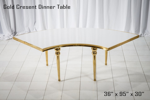 Gold Cresent Dinner Table