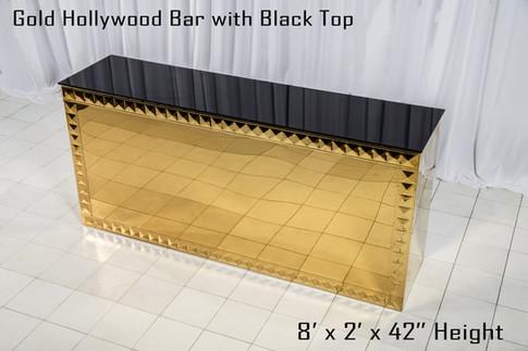Gold Hollywood Bar 8 Ft