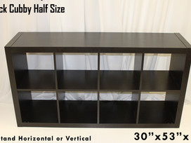 Black Half Cubby Storage