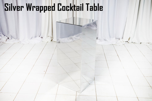 Silver Wrapped Cocktail Table