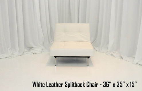 White Leather Splitback Chair