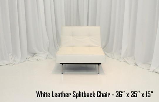 White Leather Splitback Chair