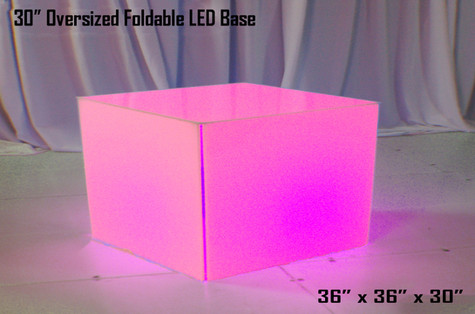 30 Inch Oversized Foldable LED Table Base