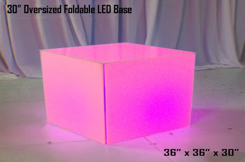 30 Inch Oversized Foldable LED Table Base