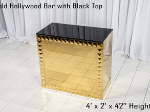 Gold Hollywood Bar - 4Ft.