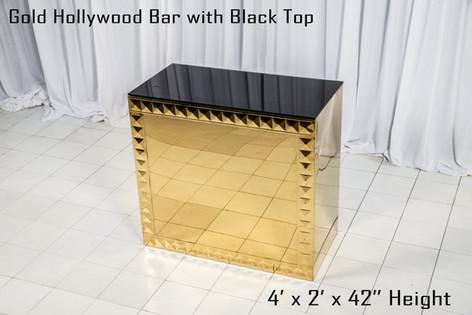 Gold Hollywood Bar 4 Ft