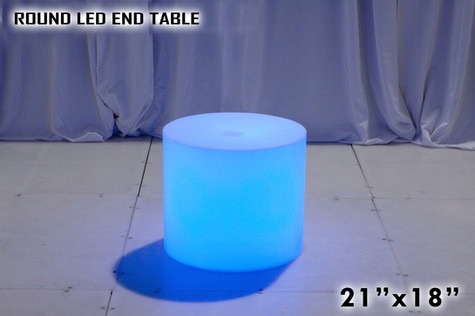 Round LED End Table