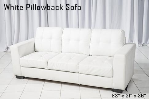 White Pillowback Sofa