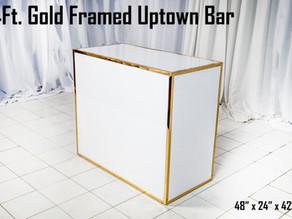 Gold Framed Uptown Bar - 4Ft.