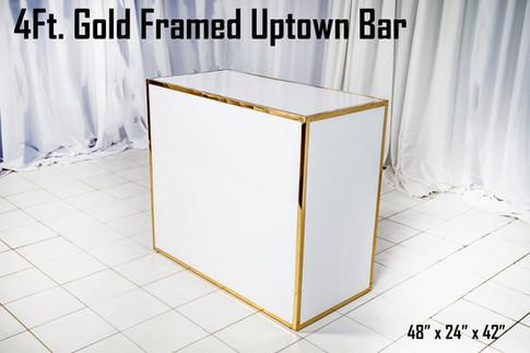 Gold Framed Uptown Bar 4Ft.