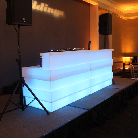 LED Staggered DJ Booth